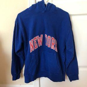 NWOT Brandy Melville Blue New York Hoodie